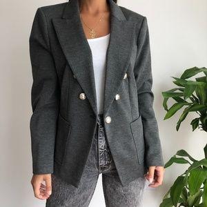 NWT Tommy Hilfiger gray knit blazer women's 16